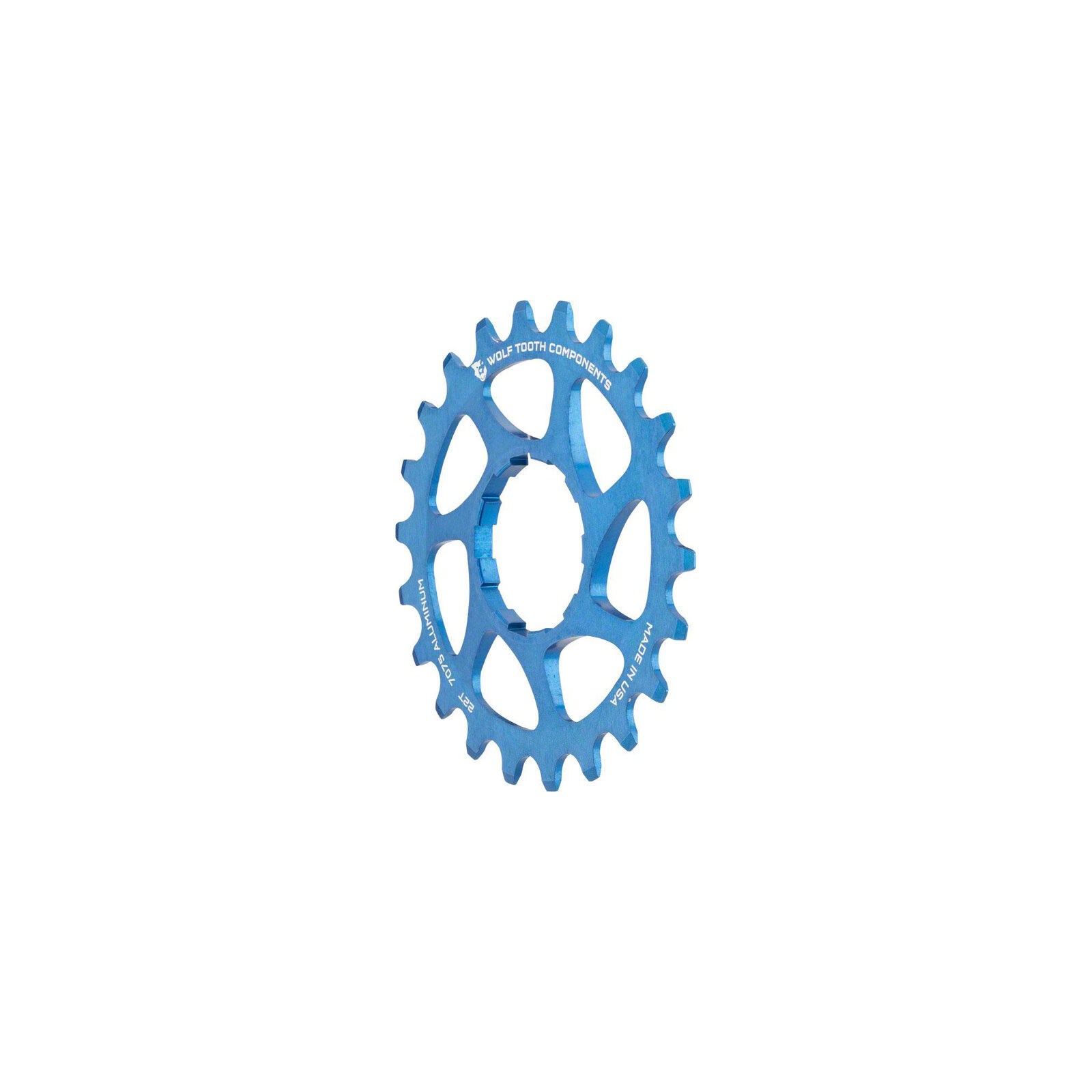 Wolf Tooth Components Single Speed Bike 22t Cog 332 blu
