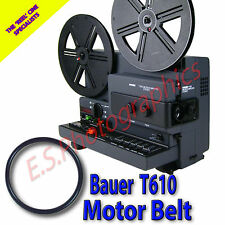 Bauer t610 MICROCOMPUTER STEREO Super 8mm CINE PROIETTORE Belt (motore principale Cintura)