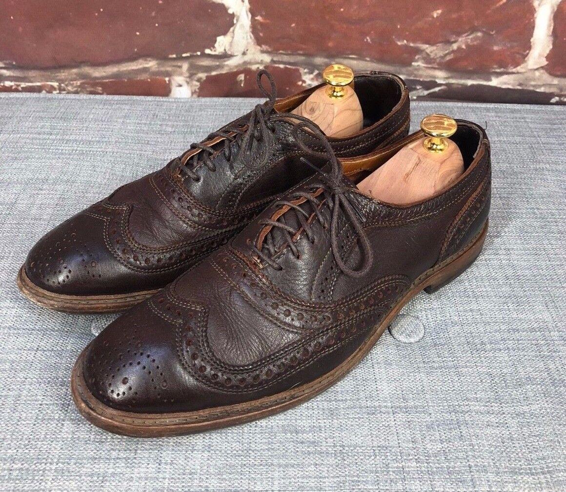 buy popular 5a7c3 584d2 350 Allen Edmonds Neumok 9 D D D 2.0 Marrone Wingtip Strap Bit Ankle Cap  Split scarpe 13ed68