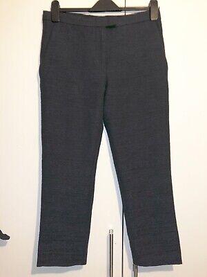 a1f6d248af37 Details about Cos Blue Trousers Size 10 Capri Cropped Zipped