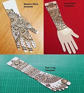 Strong White Top Quality Acrylic Practice Henna Mehndi Templates