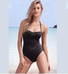 805622aa85 Black swimsuit bandeau NEXT RRP £ 34 size 32 A/B BNWT Halterneck | eBay