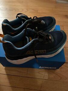 Hoka-One-One-Bondi-6-Fire-amp-Ice-Men-s-9-5-Blue-Orange-Running-Shoes