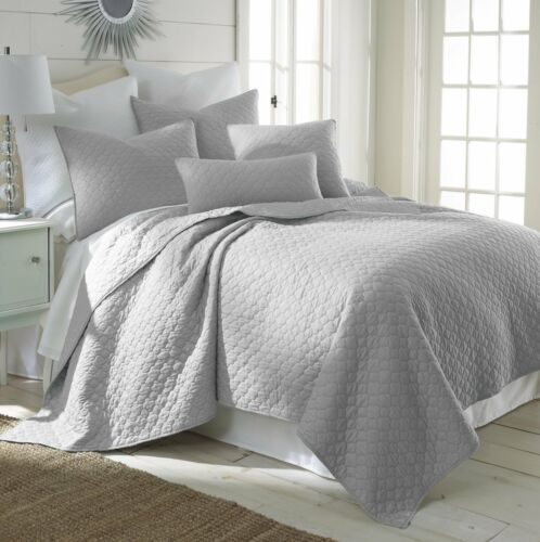 MIDWEST NENA SOLID QUILT BEDDING BEDSPREAD COVERLET PILLOW CASES SET QUEEN