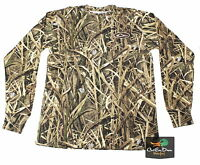 Drake Waterfowl Ls Long Sleeve Layering Tee T-shirt Blades Camo Small S