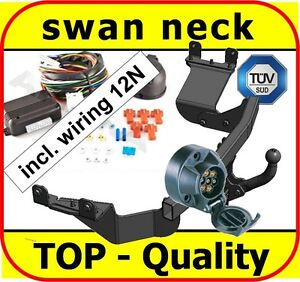 Towbar-amp-Electrics-7pin-12N-Citroen-C-Crosser-2007-onwards-swan-neck-Tow-Bar