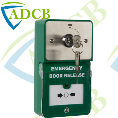Surface Mount Emergency Door Release Momentary Key Switch Twin Access Panel