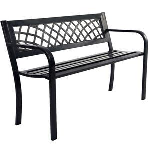 Terrific Details About Patio Park Garden Bench Porch Path Chair Outdoor Deck Steel Frame New 545 Short Links Chair Design For Home Short Linksinfo