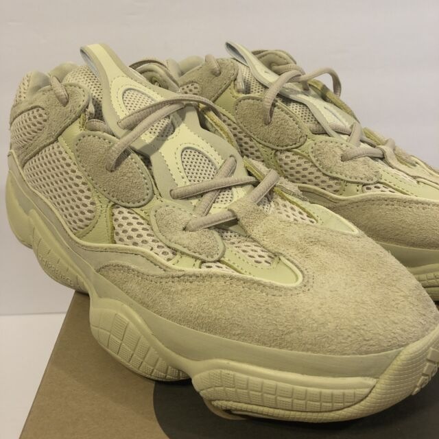 new style 57e83 c300e adidas Yeezy Mens SNEAKERS Desert Rat 500 Super Moon Yellow DB2966 Suede  Size 10