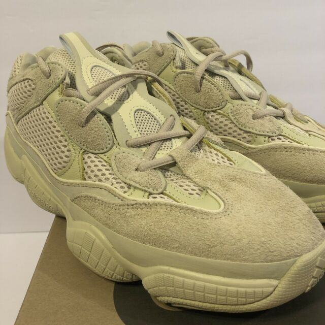 new style c36d3 16884 adidas Yeezy Mens SNEAKERS Desert Rat 500 Super Moon Yellow DB2966 Suede  Size 10