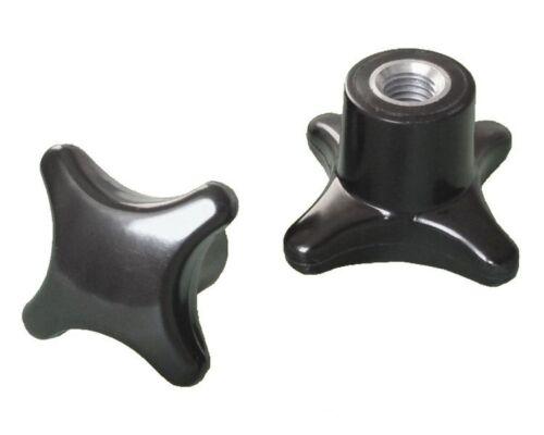 Kreuzgriffmutter M8 DIN 6335 Kreuzmutter Stahlgewinde Ø 50mm - MENGE wählbar