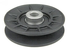 V-Belt Idler Pulley replaces John Deere AM115460 Composite Plastic Idler Pulley.