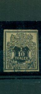 Hannover, stemma al quadrato, N. 12 timbrato