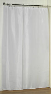 Carnation Home Fashions Fabric Extra Long Shower Curtain Liner