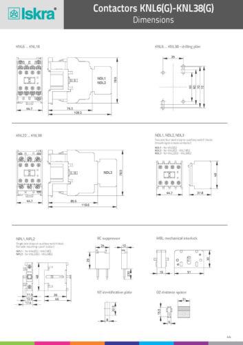 4036.7911 3s Schütz ISKRA KNL38 Uc: 230V 18,5kW Nr AC-3//400V