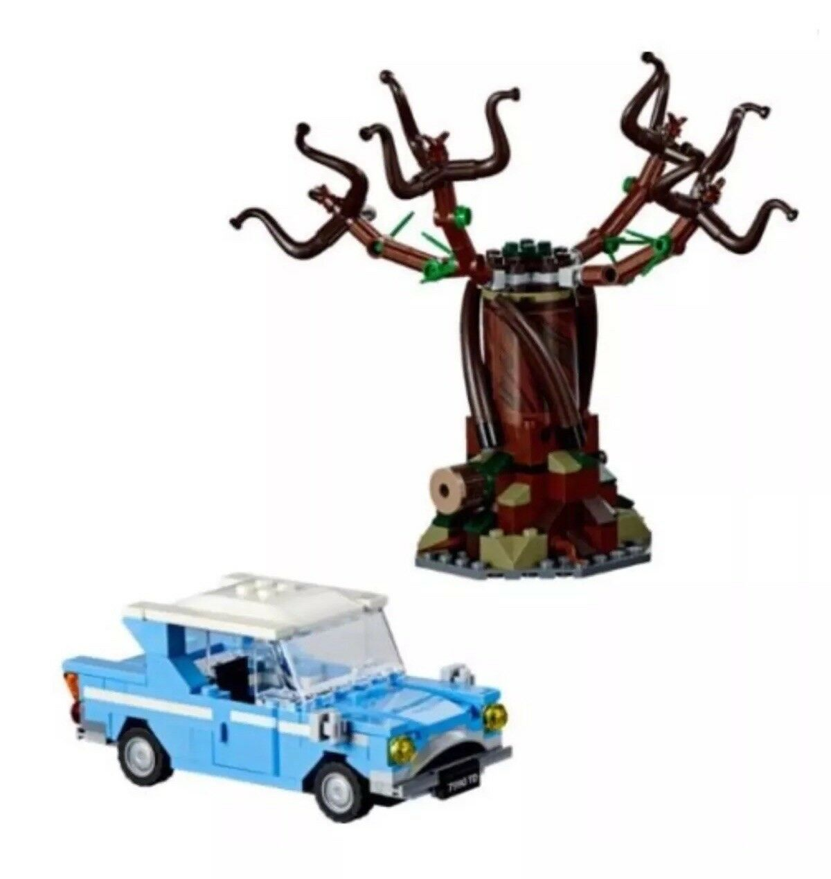 LEGO HARRY POTTER WHOMPING WILLOW & FORD ANGLIA ONLY, FROM SET 75953.
