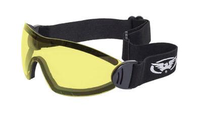 Peeksteep skydiving motorcycle goggles yellow//yellow strap