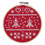 Counted-Cross-Stitch-Kit-with-Hoop-Beginner-Level-Christmas-Owl thumbnail 4