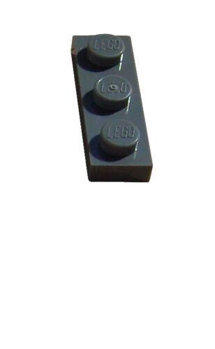 Lego 50x Platte 1x3 dunkelgrau 3623 Neu dark bluish gray Plate Platten Plates