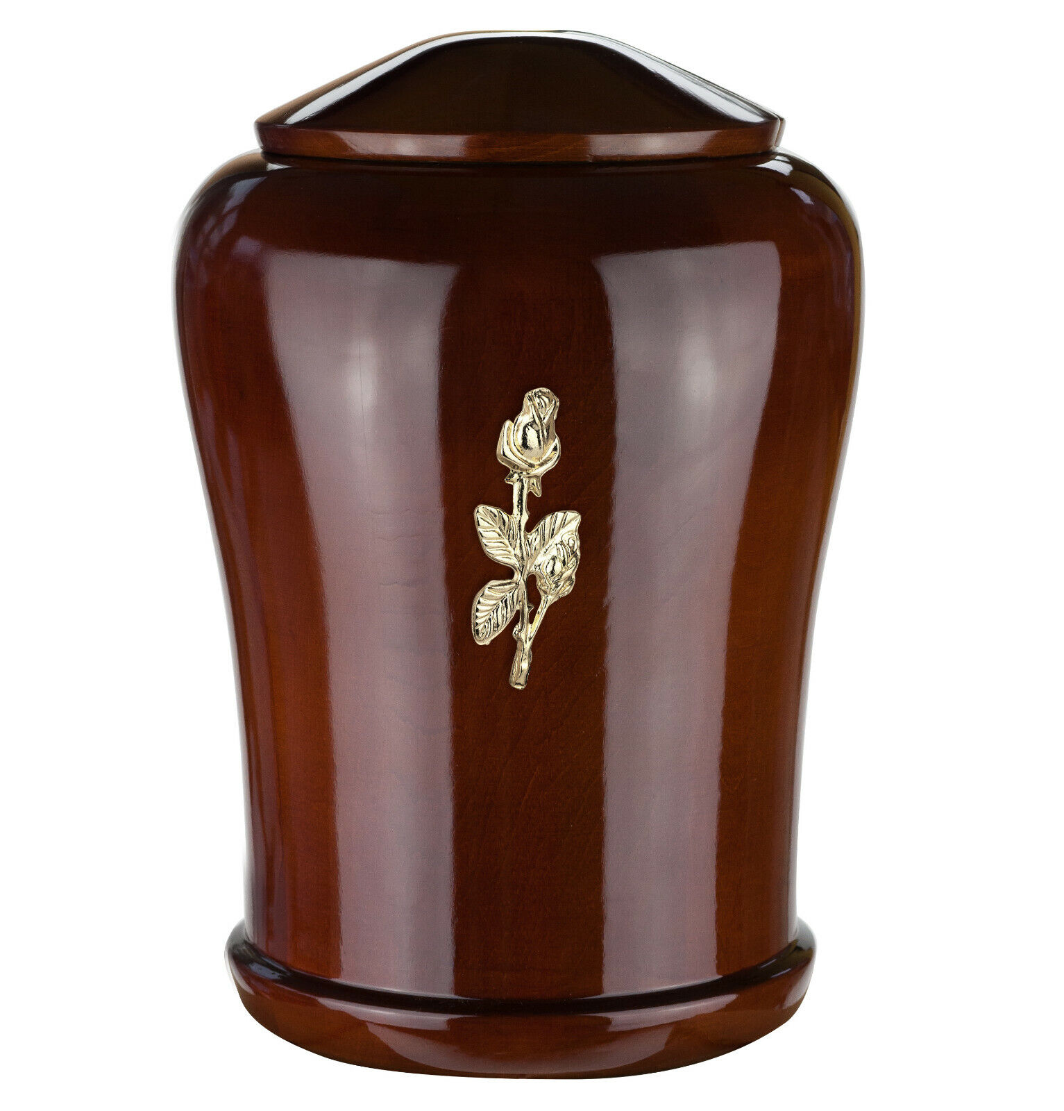 High Gloss wooden Cremation Adult Size Urn for ashes artisans craft memorial URN