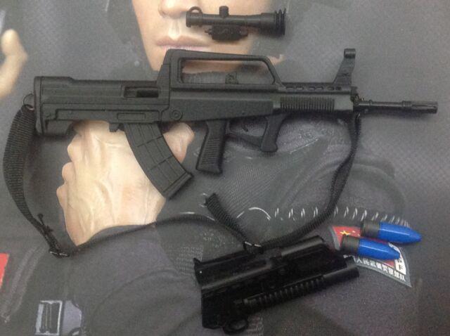 1/6 dam toys 78017 CHINA ARMED Pol FORCE CAPF - QBZ95 rifle  (approx. 11cm long)