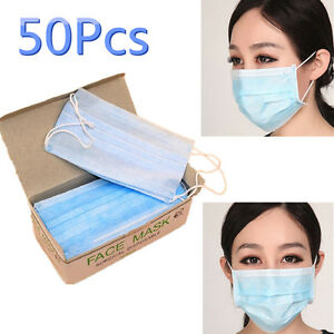 50Pcs-lot-Disposable-Surgical-Face-Mask-Anti-Dust-Anti-smog-Ear-Loop-Mouth-Mask