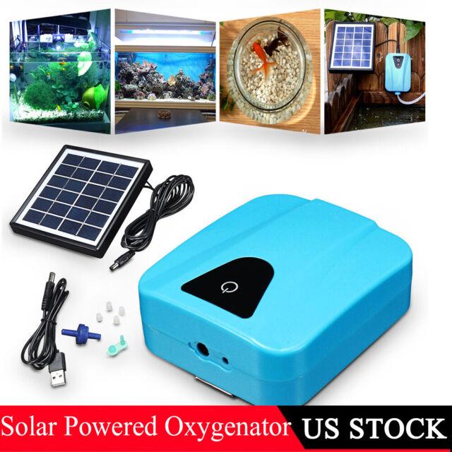Solar Powered Oxygenator USB Charging Aquarium Oxygen Pump Pool Pond Aerator