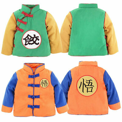 Baby Boy Girl Goku Costume Winter Jacket Toddler Dragon Ball Z Outwear Coat