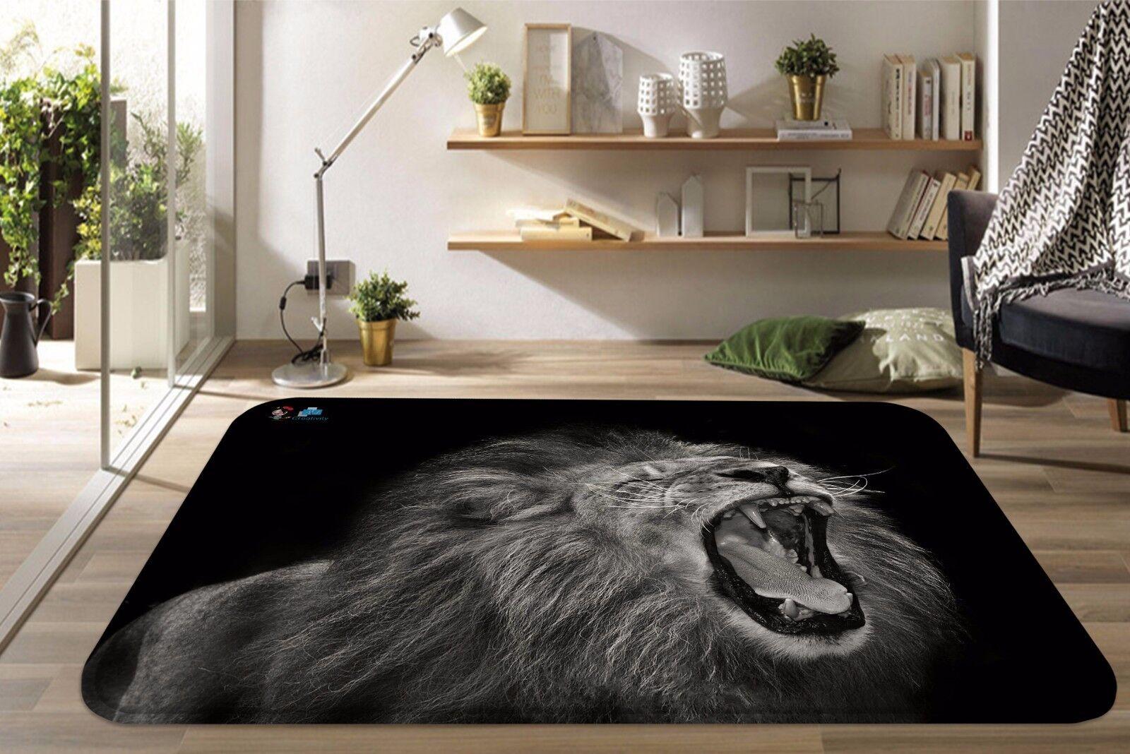 3D Animal Leone 46 tappetino antiscivolo tappeto camera Tappetino Qualità Elegante foto Tappeto UK
