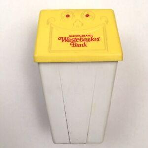 Vintage 1975 McDonald/'s McDonaldland Wastebasket Coin Bank