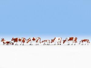 H0-escala-1-87-figuras-modelismo-figures-scenery-cows-Tiere-Set-Noch-15723-vacas