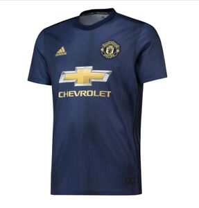 size 40 ad19f 32a21 Details about Manchester United FC Official Football Gift Mens Third Away  Kit Shirt 2018 2019
