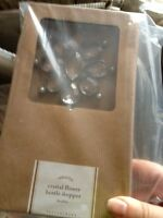 Pottery Barn Glass Crystal Flower Bottle Stopper Rare