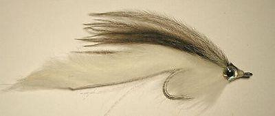Bunny Bird  White/Grey 1/0 Saltwater Flies