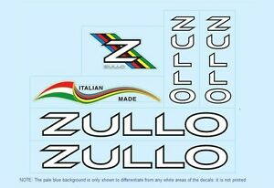 Decals 01350 Zullo Bicycle Stickers Transfer