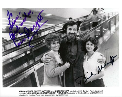Ann Margret & Dinah Manoff signed original 8x10 studio still photo / autograph
