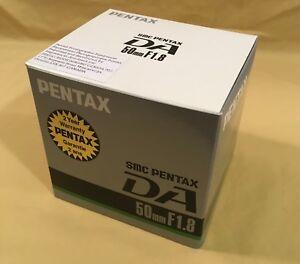 New-SMC-PENTAX-DA-50mm-1-1-8-AUTO-FOCUS-PRIME-LENS-New-W-BOX-2-Year-Warranty-UV