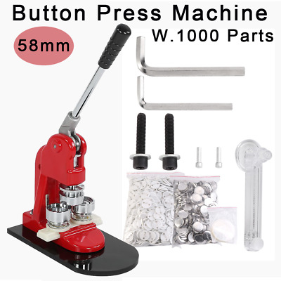 Hand Punch Press Badge Button Making Machine 1Pcs 25mm Button Badge Punch Press Maker with 1000 Circle Button and Circle Cutter Solid High Strength Metal Round Badge Hand Press Making Kit Set