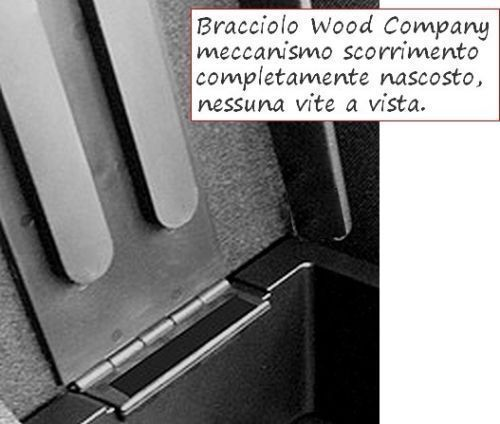 BRACCIOLO per 500X REGOLABILE nero PROMO originale Wood Company appoggiabraccio