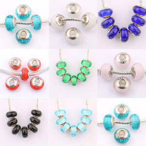 Lots-Of-5-20Pcs-Mixed-Murano-Lampwork-Glass-Beads-Fit-European-Charms-Bracelet