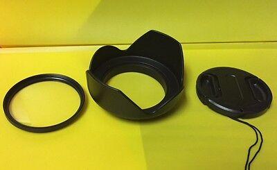 55mm Lens Hood Flower Wide Shape and Lens Cap for Sony 18-70mm 18-70 18-55mm,USA
