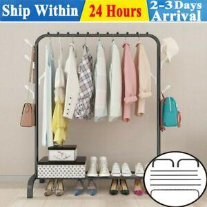 Heavy Duty Clothes Rail Rack Metal Garment Hanging Display Stands Storage Shelf
