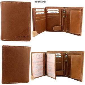 Braune Herren Geldbörse aus Leder Geldbeutel Portemonnaie
