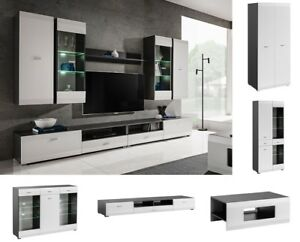 Modern Living Room Furniture Entertainment Center Wall Unit Media Tv Stand Led Ebay