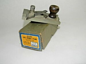 MINT-IN-BOX-RECORD-2506-S-SIDE-RABBET-PLANE-amp-DEPTH-STOP-INV-T4962