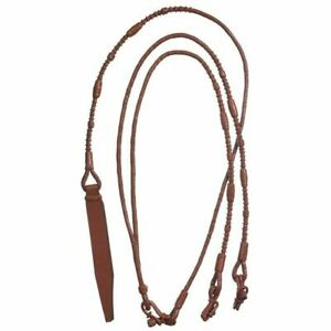 Tough-1-Royal-King-Braided-Leather-Weighted-Show-Rounded-Romel-Reins-7-039