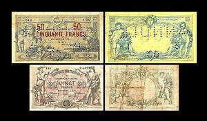 2x 20, 50 Francs - Edition 1879 - 1892 - Reproduction - B 23