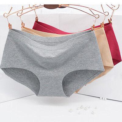 Women's Sexy Cotton Panties Seamless Underwear Natural Cotton Briefs knickers