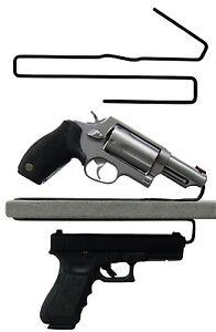 Gun-Safety-Storage-Solutions-Pack-of-2-Shelf-Handgun-Pistol-Hangers-Over-Under