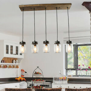 Charmant Image Is Loading LNC Adjustable Mason Jar Kitchen Island Lighting Multi